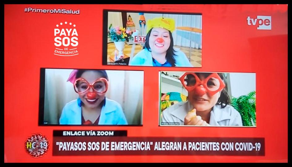 Payasos de Emergencia alegran a pacientes con Covid