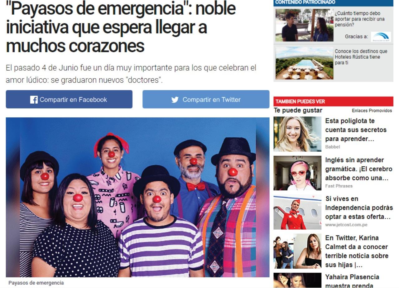 """""""Payasos de emergencia"""": noble iniciativa que espera llegar a muchos corazones"""