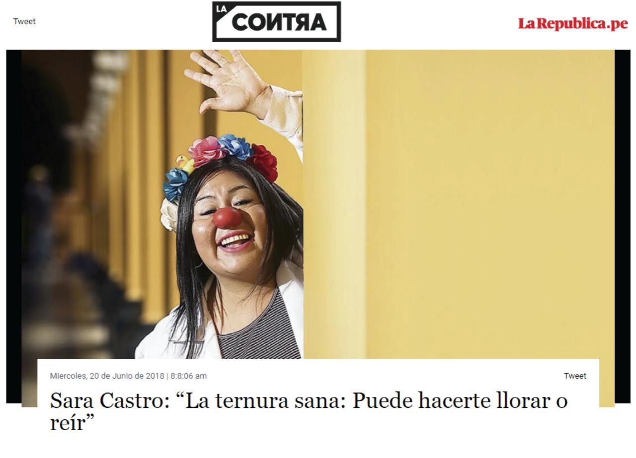 """Sara Castro: """"La ternura sana: Puede hacerte llorar o reír"""""""