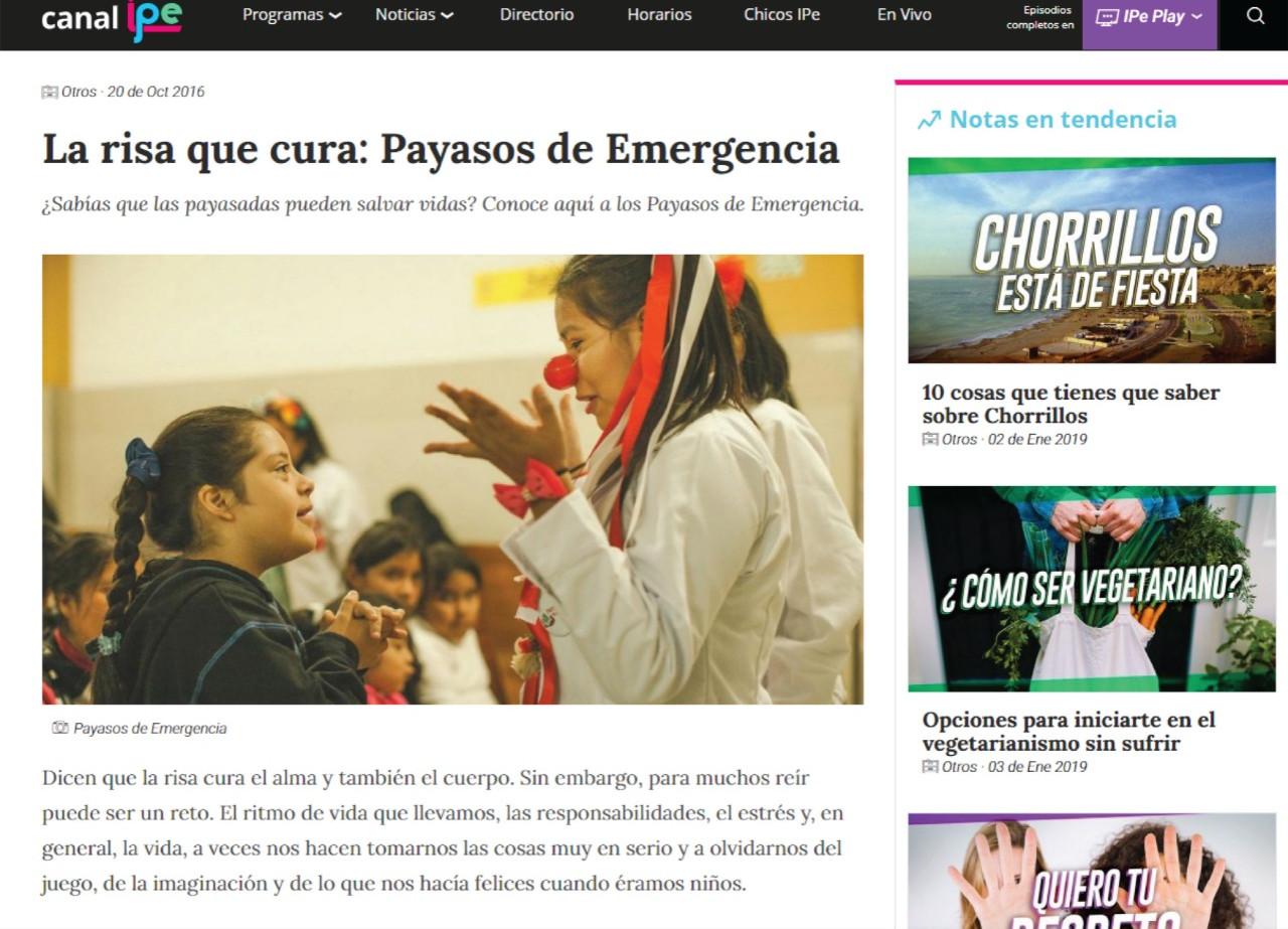 La risa que cura: Payasos de Emergencia