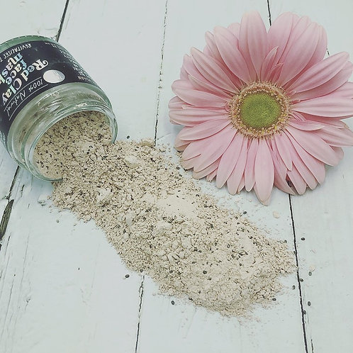 Natural red clay face mask