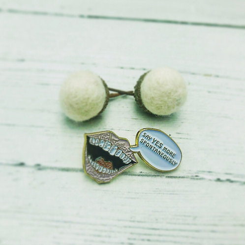 Handmade Say Yes to more spontaneously pin