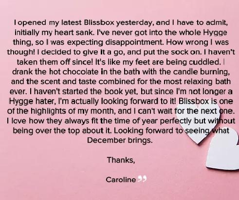 Caroline Feedback