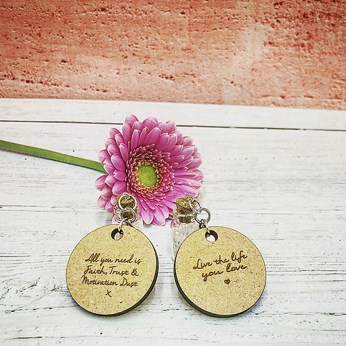 Handmade charm key ring