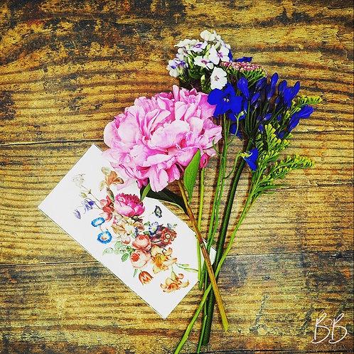 Handmade Vintage Floral Temporary Tattoo