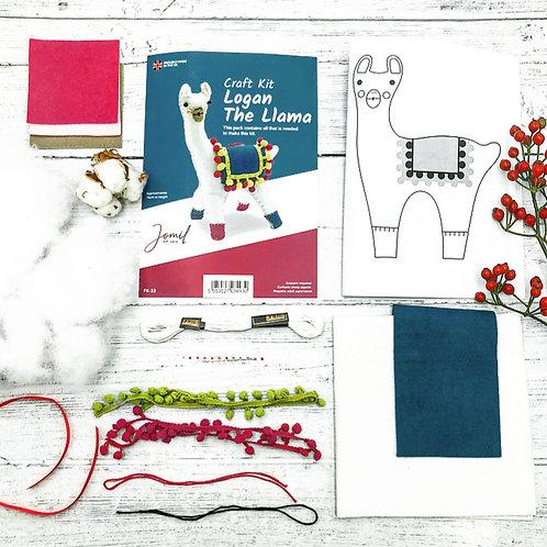 Logan the Llama Fun Felt Sewing Pattern Kit