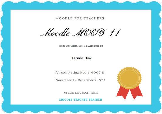 Moodle Training Certificate