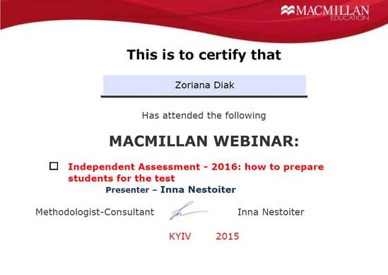 Independent Assessment Webinar