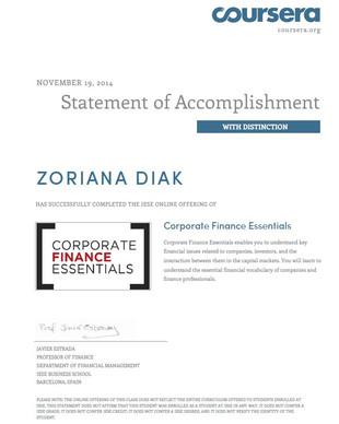 Corporate Finance Essentials Course