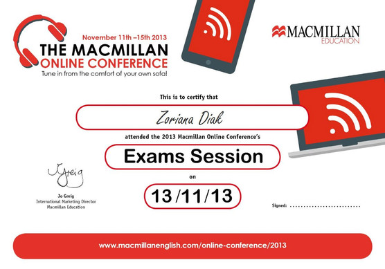 Exam Session Attendance Certificate