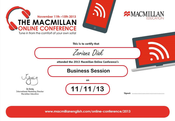 Business Session Attendance Certificate