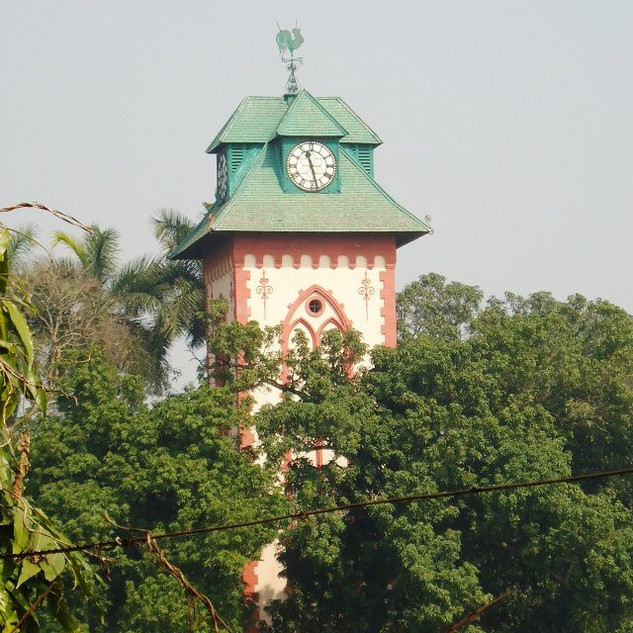 Clock tower at college