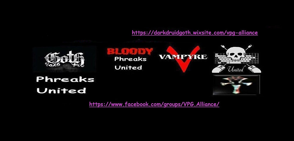 1. A Vampyre, Pagan & Goth Alliance NOTE