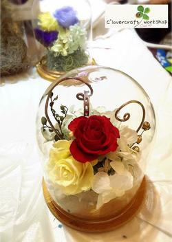 圓型頂玻璃瓶戒指作品-PF033