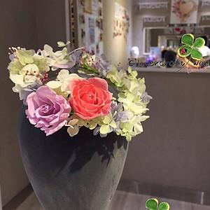 (6) 日系保鮮花花環