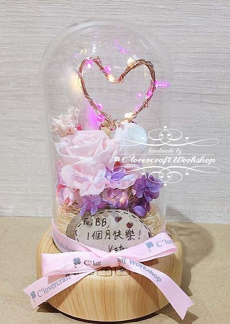 保鮮花藍芽燈座(加牌)