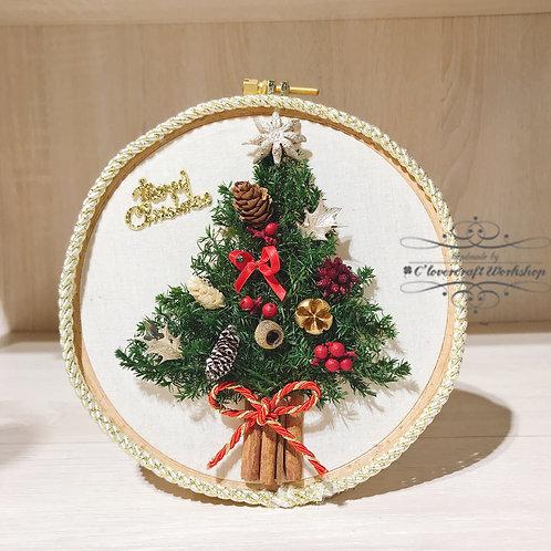 Christmas Workshop (F) - 日本保鮮花Preserved flower 聖誕樹掛畫班