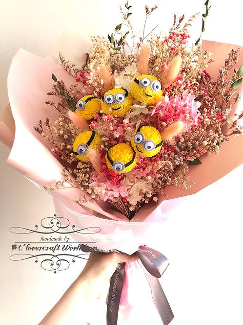 保鮮花波波菊造型花束