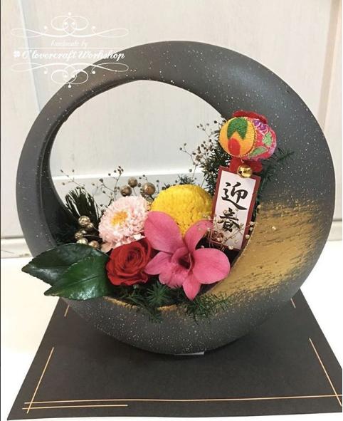 農曆新年新設計產品——保鮮花家居迎春擺飾