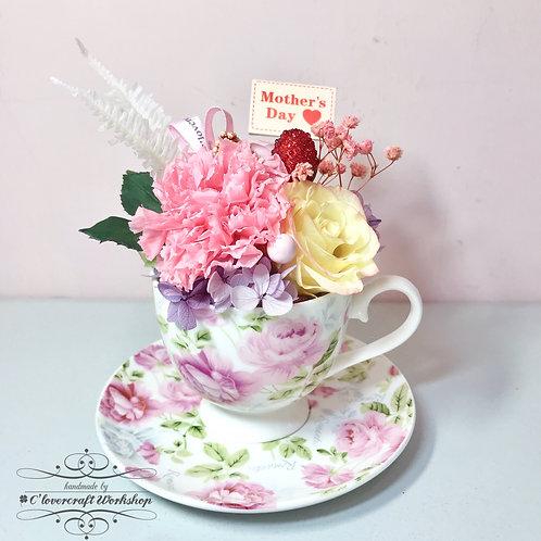 母親節保鮮花茶杯花