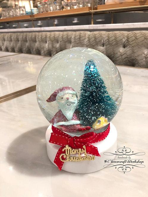 聖誕老人飄雪水晶球