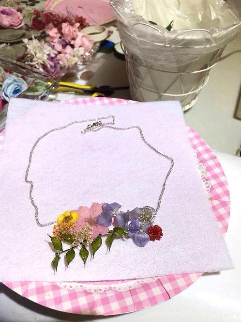 鮮乾花系列~UV飾物吊咀頸鍊班-B(立體全乾花款式)