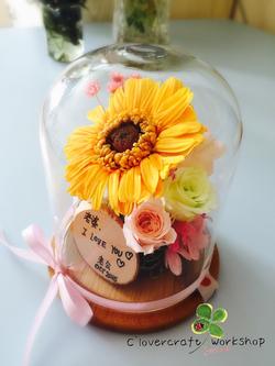 圓型頂玻璃瓶作品-PF035