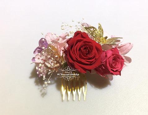日式保鮮花頭飾