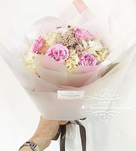 粉紅玫瑰保鮮花花束