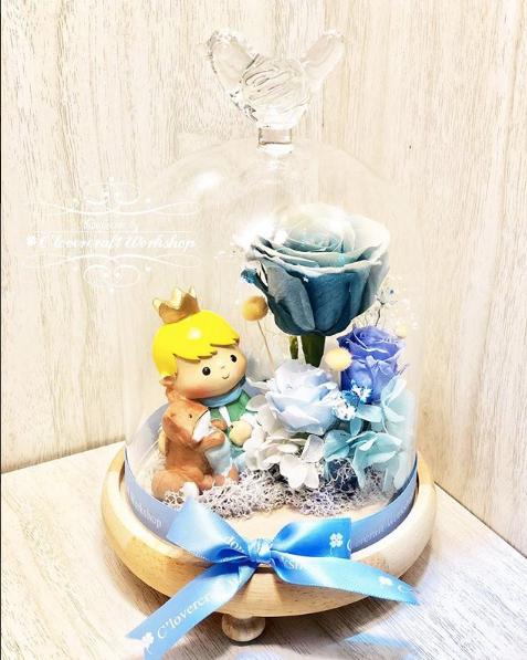 小王子保鮮花玻璃瓶