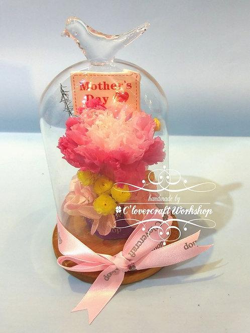 康乃馨鳥頂玻璃瓶