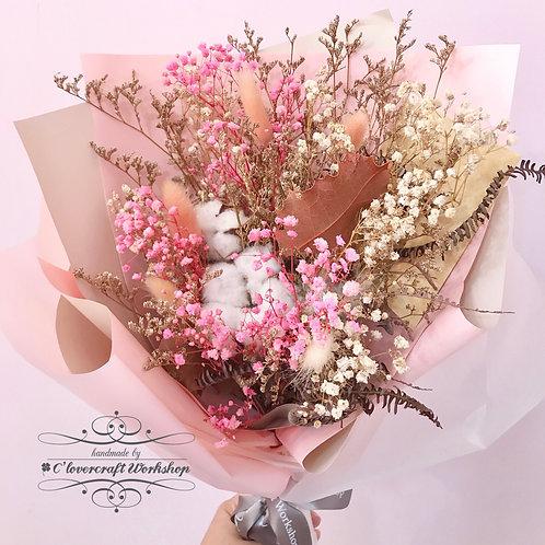 綿綿花乾燥花束
