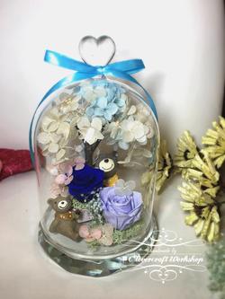 水晶心頂玻璃瓶作品-PF047