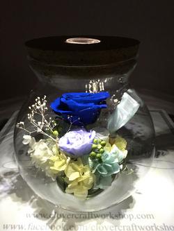 玻璃瓶小夜燈作品(大)-PF112