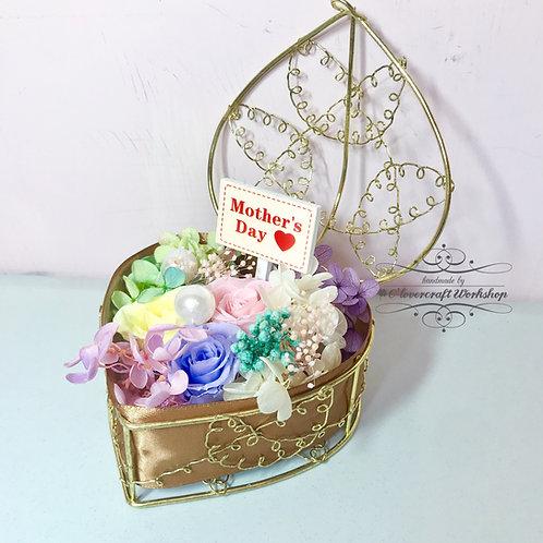 母親節保鮮花心型花盒