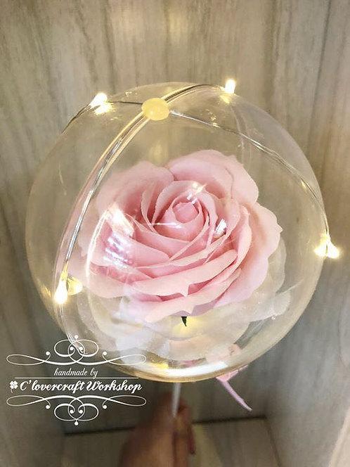 Preserved flower系列 - 玫瑰香皂花水晶球