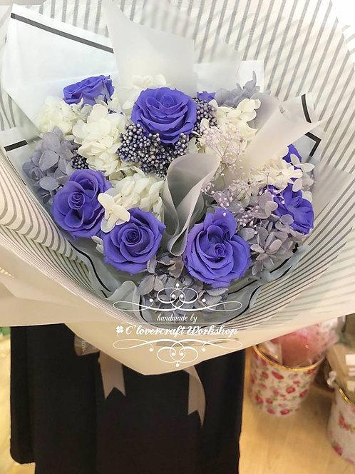 紫色玫瑰保鮮花花束