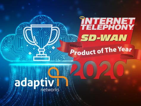 Adaptiv Networks Awarded a 2020 INTERNET TELEPHONY SD-WAN Product of the Year Award