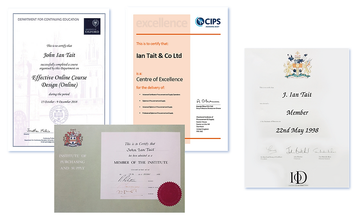 Ian Tait CIPS Certificates.png