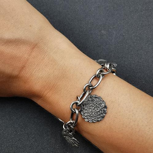 Flower charm bracelet.