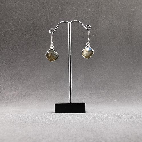 Labradorite drop ear rings