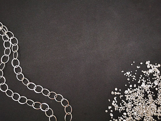 Silver Necklace and Silver Granules