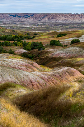 Rolling Hills in the Badlands National P