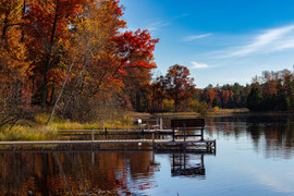 Lonely Bench on a Lake in Autumn.jpg