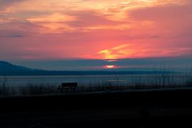 A Look Across Lake Peppin at Sunrise, Mi