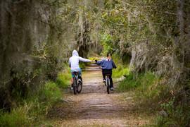 Couple on Bikes Circle-B-Bar, Lakeland,
