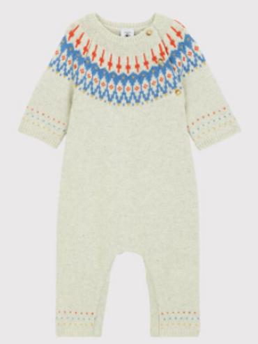 Combinaison longue Jacquard en tricot avec laine
