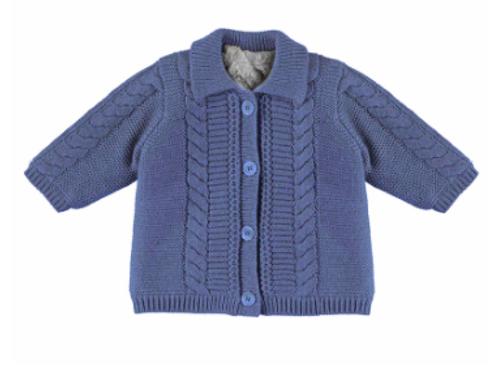Blouson tricot et fausse fourrure