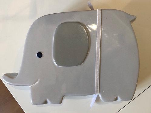Tirelire éléphant grise