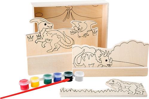 """Image à colorier bois """"Dinosaures"""""""